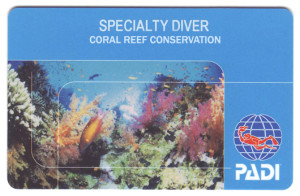 Project AWARE Coral Reef Conservation Specialty