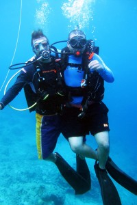 Teaching family to dive